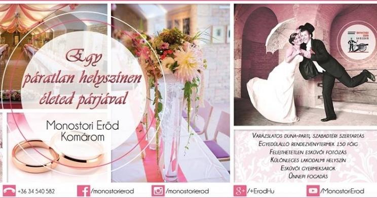 fce3807196 Esküvő helyszín Komáromban, a Monostori Erődben - Programturizmus